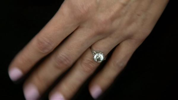 Alexis Bledel, wearing a new engagement ring from fiance