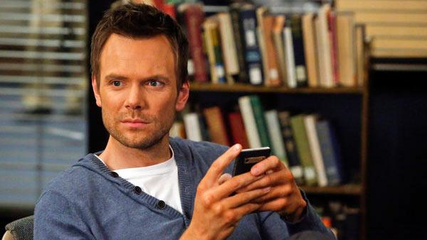 Joel McHale appears in a scene from a 2013 episode of Community. - Provided courtesy of NBC
