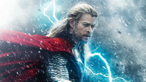 Chris Hemsworth appears in a teaser poster for the 2013 movie Thor: The Dark World. - Provided courtesy of Marvel Studios / Walt Disney Studios