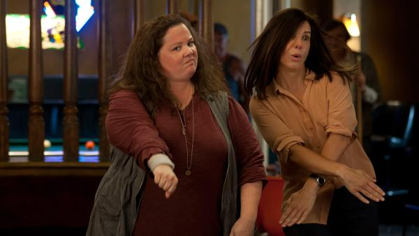 Sandra Bullock and Melissa McCarthy appear in a scene from the 2013 movie The Heat. Bullock plays an FBI agent and McCarthy plays a foul-mouthed Boston cop. They team up to try to nab a ruthless drug lord. - Provided courtesy of Twentieth Century Fox Film Corporation