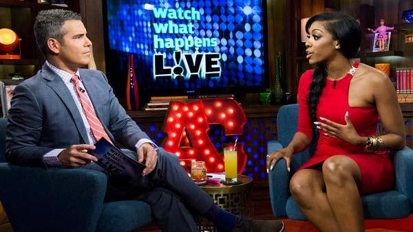 Porsha Stewart appears on Watch What Happens Live on April 21, 2013. - Provided courtesy of Charles Sykes/Bravo