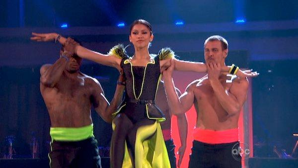 Zendaya, Jacoby Jones and Ingo Rademacher appear on week 6 of season 16 of Dancing With The Stars, which aired on April 22, 2013. - Provided courtesy of ABC