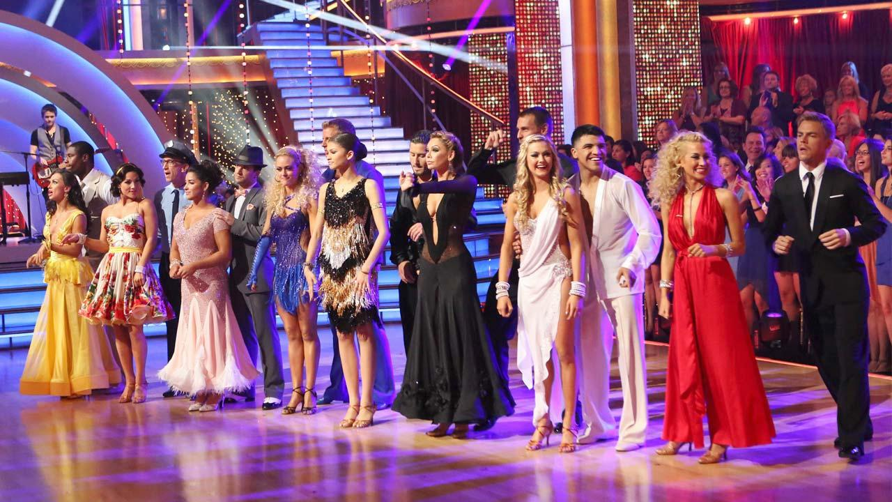 The cast of Dancing With The Stars appear on the show on April 22, 2013.