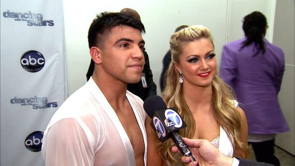 Dancing With The Stars contestant Victor Ortiz speaks after season 16s week 6 elimination on April 23, 2013.