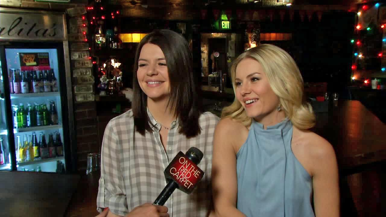Elisha Cuthbert and Casey Wilson talk to OTRC.com on the set of Happy Endings on March 11, 2013.