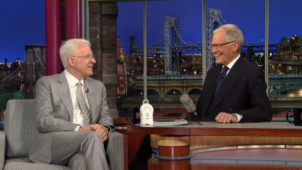 Steve Martin appears on The Late Show with David Letterman on April 23, 2013. - Provided courtesy of CBS / World Wide Pants