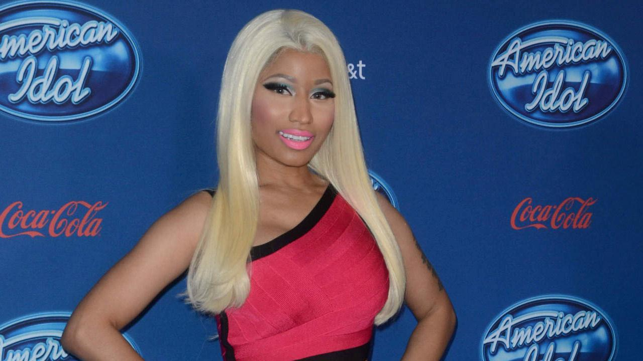 Judge Nicki Minaj arrives on the blue carpet during the American Idol Premiere Screening and Q &A Event at UCLAs Royce Hall in West Los Angeles, CA on Wednesday, Jan. 9, 2013.