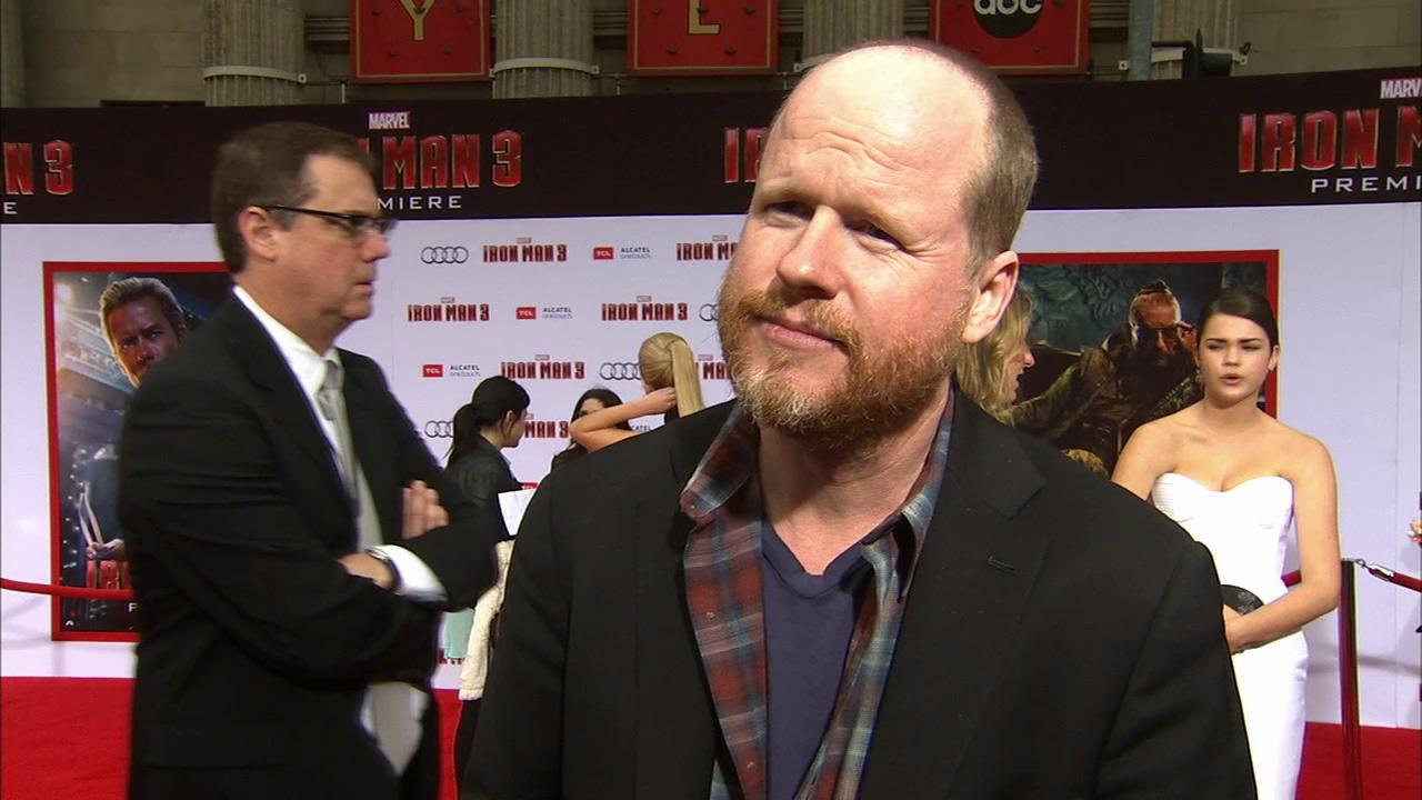 Joss Whedon talks to OTRC.com about his and Marvels The Avengers 2 movie and pilot Avengers of S.H.I.E.L.D. at the Iron Man 3 premiere on April 24, 2013.
