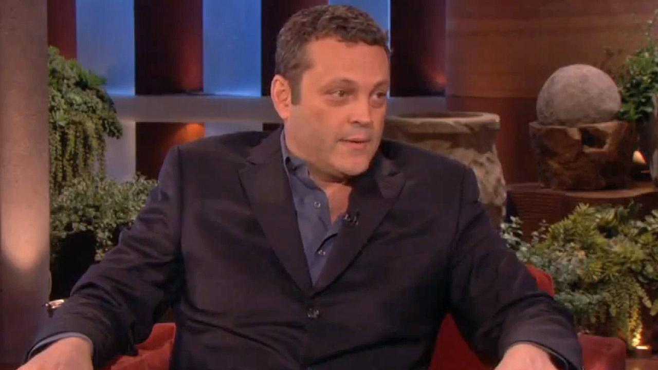 Vince Vaughn appears on The Ellen DeGenres Show on April 26, 2013.