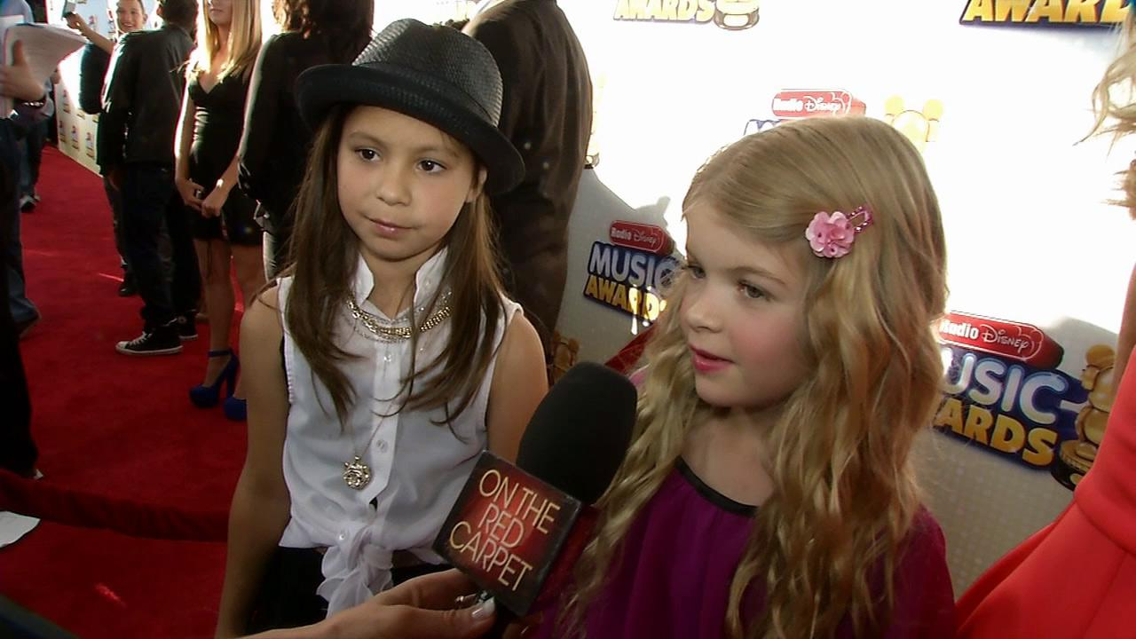 Denise Richardss daughter Lola, 7, talks to OTRC.com at the 2013 Radio Disney Music Awards at the Nokia Theatre L.A. Live on April 27, 2013. The event will air on the Disney Channel and on Radio Disney on May 4.
