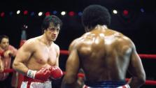 Sylvester Stallone and Carl Weathers appear in a scene from the 1976 movie Rocky. - Provided courtesy of Metro-Goldwyn-Mayer Studios Inc.