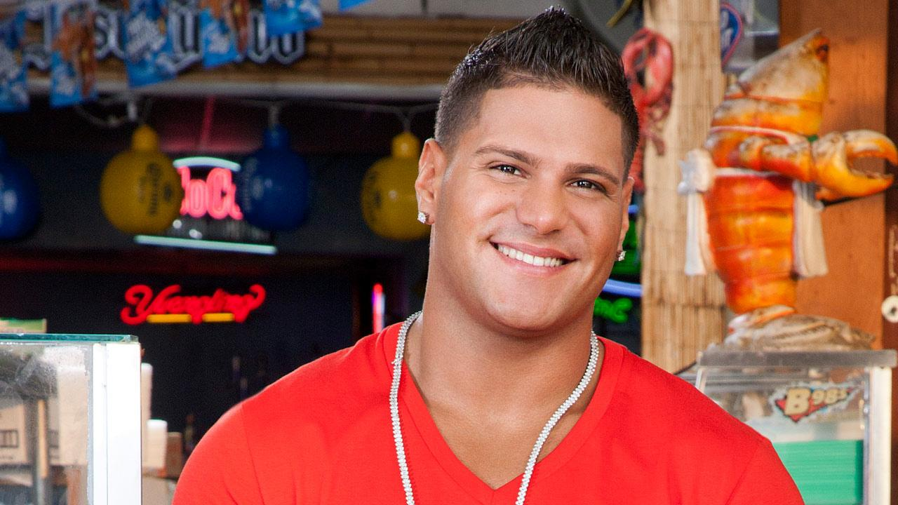 Ronnie Ortiz-Magro appears in a promotional photo for Jersey Shore in 2012.