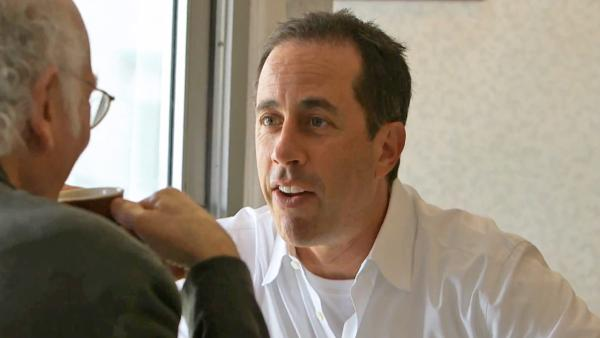 Jerry Seinfeld and Larry David appear in the Crackle web series Comedians in Cars Getting Coffee, which debuts on July 19, 2012. - Provided courtesy of Crackle.com