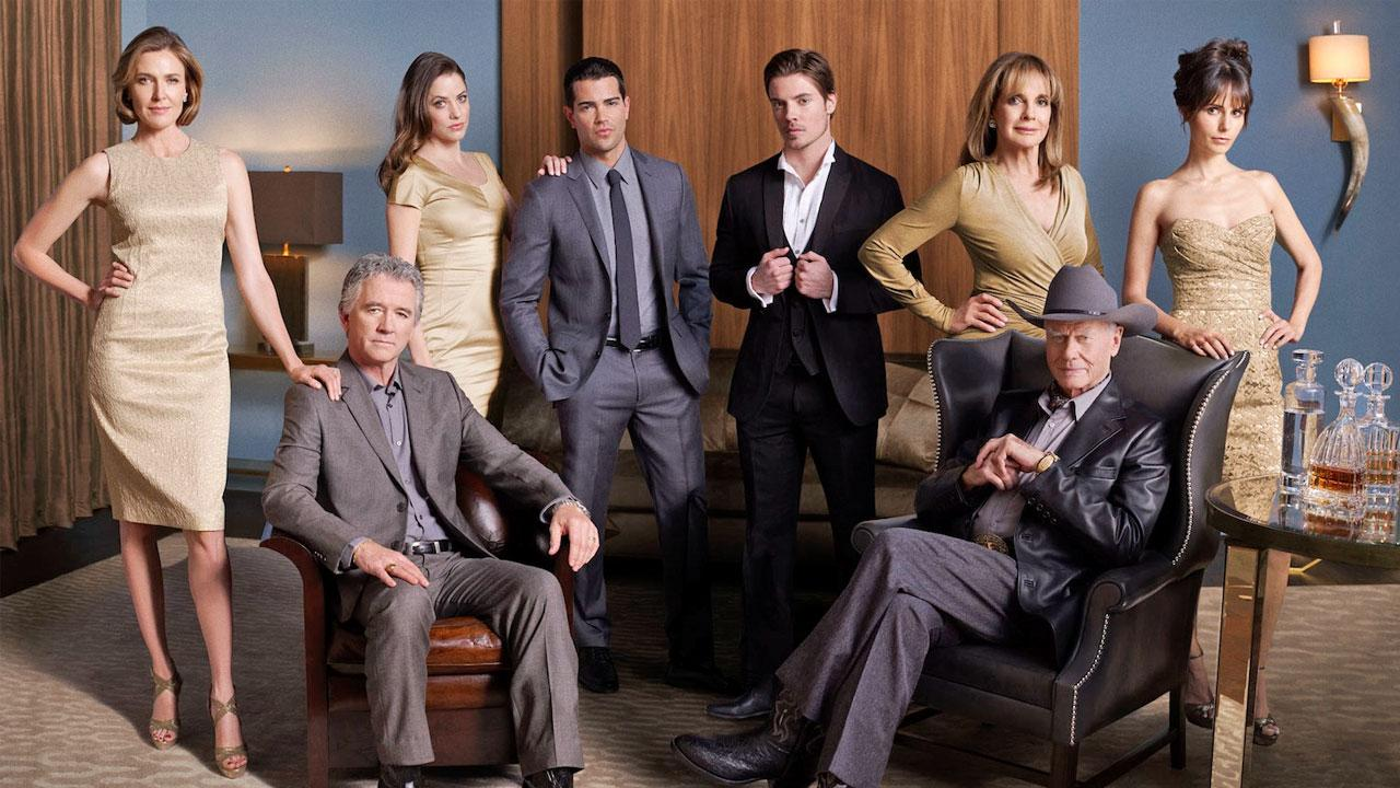 The cast of Dallas appear in a 2012 promotional photo for the shows second season.