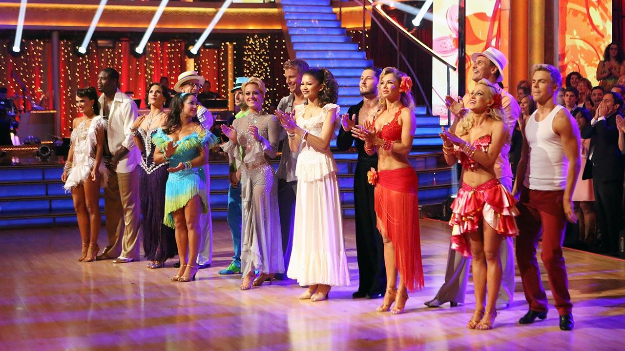 The cast of Dancing With The Stars appears on week 7 on April 29, 2013.ABC Photo / Adam Taylor