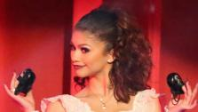 Shake It Up actress Zendaya and partner Val Chmerkovskiy dance the Paso Doble on week seven of Dancing With The Stars on April 29, 2013. They received 27 out of 30 points from the judges. - Provided courtesy of ABC Photo / Adam Taylor