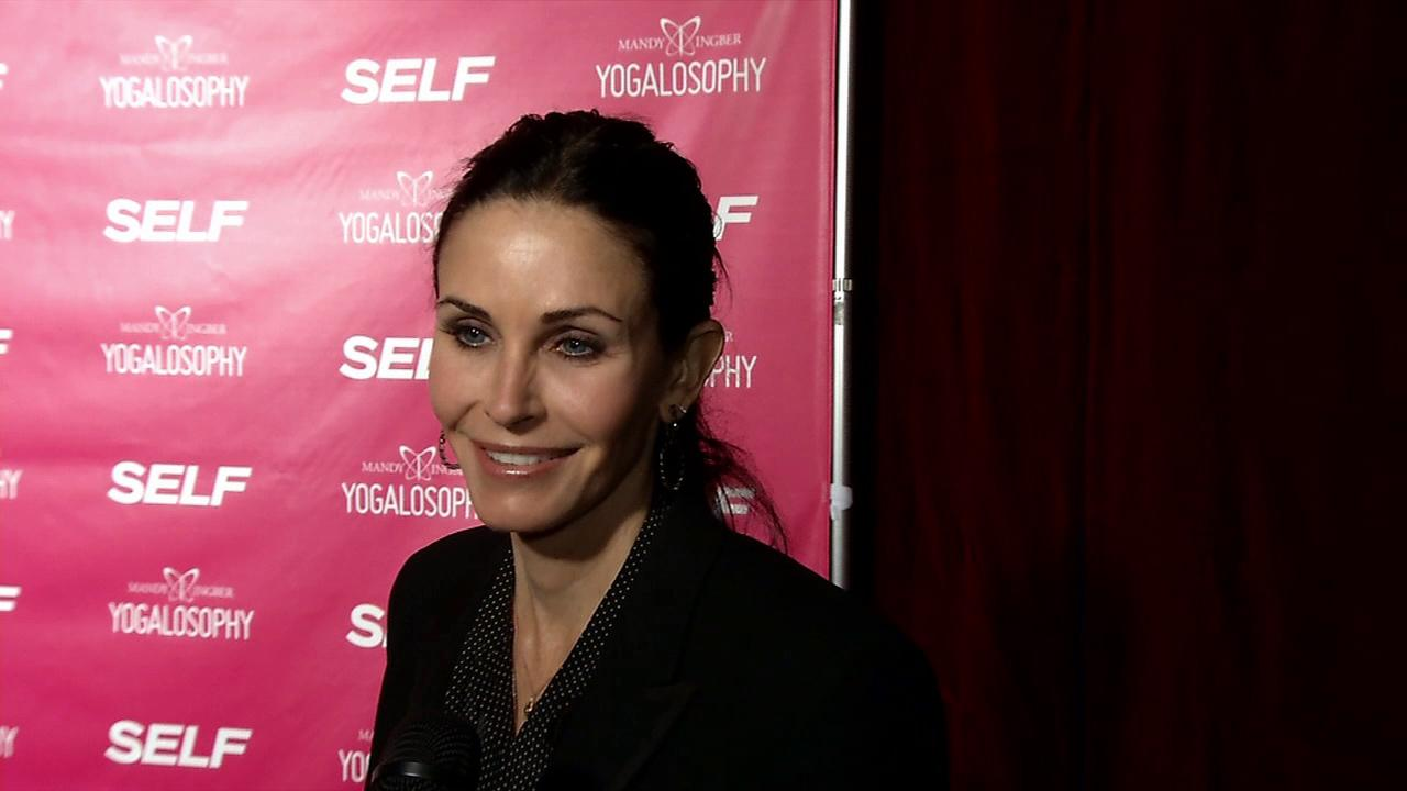 Courteney Cox appears at an event promoting yoga instructor Mandy Ingbers new book, Yogalosophy: 28 Days to the Ultimate Mind-Body Makeover, on April 30, 2013 at the Soho House in West Hollywood, California.