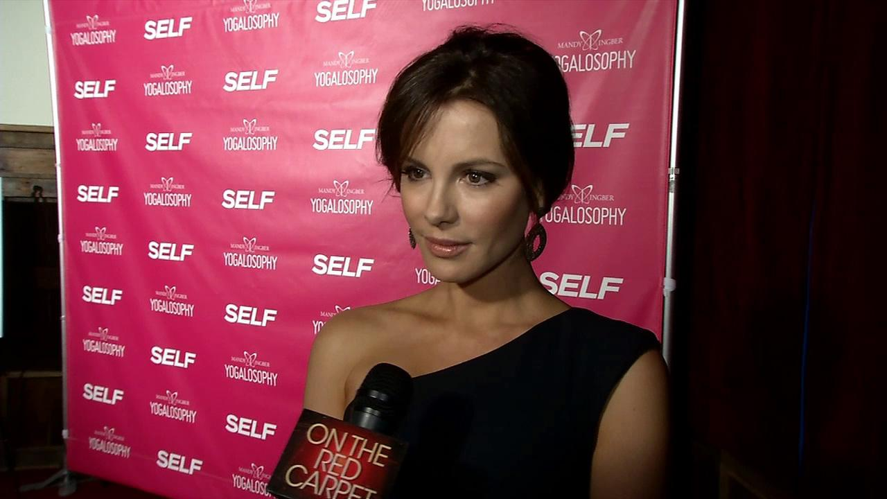 Kate Beckinsale appears at an event promoting her longtime friend and yoga instructor Mandy Ingbers new book, Yogalosophy: 28 Days to the Ultimate Mind-Body Makeover, on April 30, 2013 at the Soho House in West Hollywood, California.