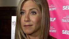 Jennifer Aniston appears at an event promoting her longtime friend and yoga instructor Mandy Ingbers new book, Yogalosophy: 28 Days to the Ultimate Mind-Body Makeover, on April 30, 2013 at the Soho House in West Hollywood, California. - Provided courtesy of OTRC