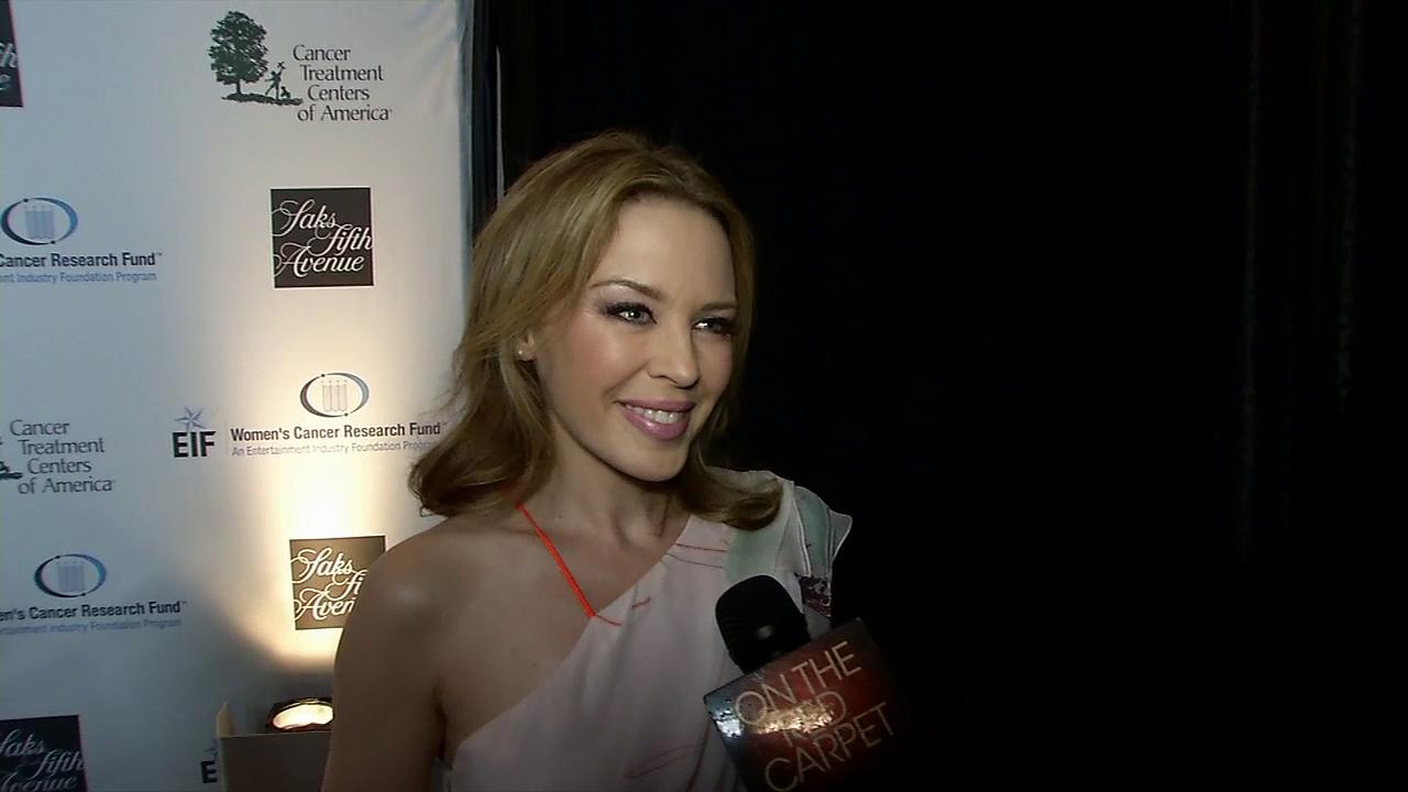 Kylie Minogue talks to OTRC.com at the EIF Womens Cancer Research Funds 16th Annual An Unforgettable Evening event, presented by Saks Fifth Avenue, at the Beverly Wilshire Four Seasons Hotel on May 2, 2013 in Beverly Hills, California.