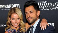 From left, Kelly Ripa and Mark Consuelos seen on the red carpet for The Hollywood Reporter Celebrates the 35 Most Powerful People in Media, on April 10th, 2013, in New York. - Provided courtesy of Photo by Charles Sykes/Invision for The Hollywood Reporter/AP Images