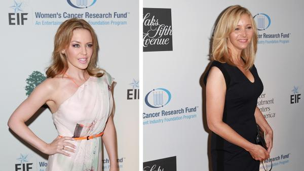 Kylie Minogue and Lisa Kudrow appear at the EIF Womens Cancer Research Funds 16th Annual An Unforgettable Evening event, presented by Saks Fifth Avenue, at the Beverly Wilshire Four Seasons Hotel on May 2, 2013 in Beverly Hills, California. - Provided courtesy of Joe Scarnici / Getty Images for EIF