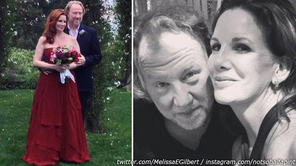 Melissa Gilbert appear in a photos from her official Twitter page, which was posted on April 25, 2013. / Melissa Gilbert appears in a photo from her official Instagram page from April 2013.