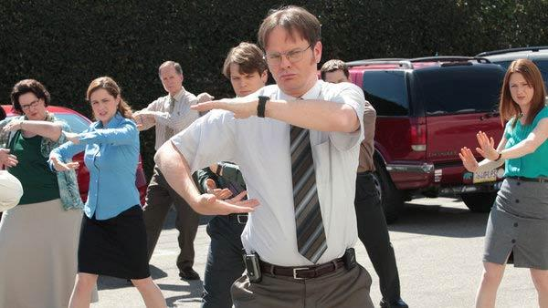 Rainn Wilson appears in a promotional photo for the series finale for The Office in 2013. - Provided courtesy of Chris Haston/NBC