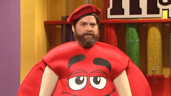 Zach Galifianakis appears on the May 4 episode of Saturday Night Live. - Provided courtesy of NBC / Saturday Night Live