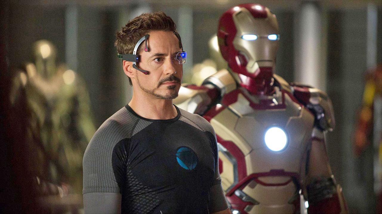 Tony Stark/Iron Man (Robert Downey Jr.) appears in a scene from Marvels Iron Man 3.