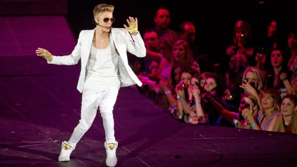 Canadian singer Justin Bieber performs at the o2 Arena in London on Mar. 4, 2013. - Provided courtesy of Joel Ryan / Invision / AP