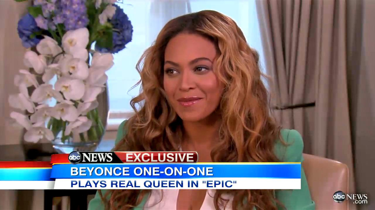 Singer Beyonce appears in an interview with Good Morning America which aired on May 6, 2013.