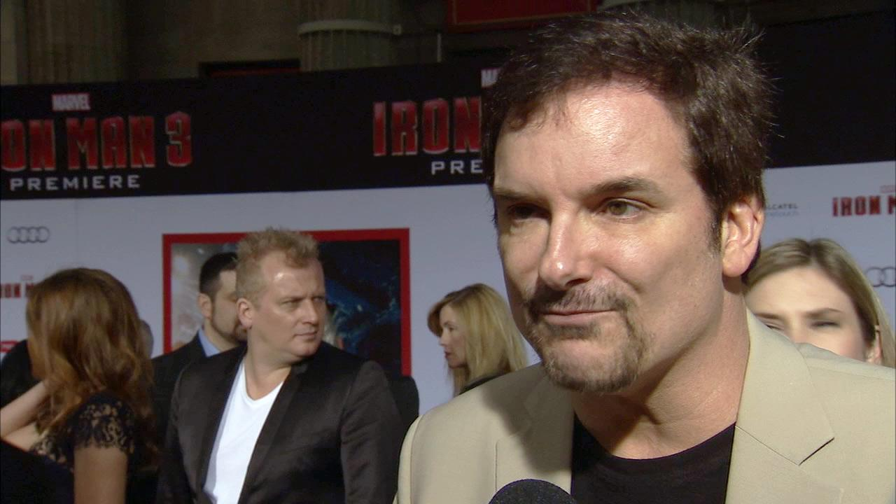 Shane Black, director Iron Man 3, speaks to OTRC.com at the films premiere on April 24, 2013.