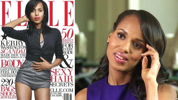 Kerry Washington appears on the cover of the June 2013 issue of Elle magazine. / Kerry Washington talked to OTRC.com about the second season of her ABC drama series Scandal on Sept. 16, 2012. - Provided courtesy of Elle / OTRC