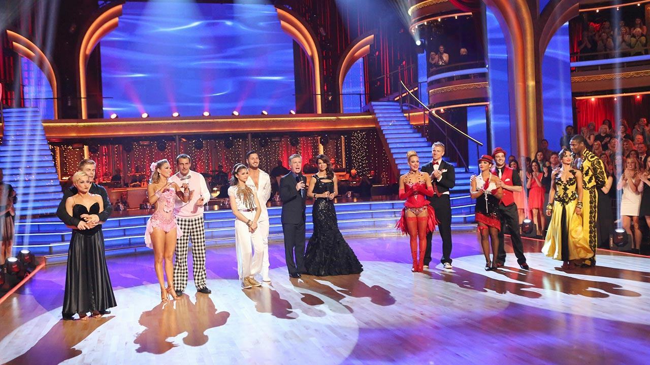 The cast of Dancing With The Stars appears on week eight on May 7, 2013.