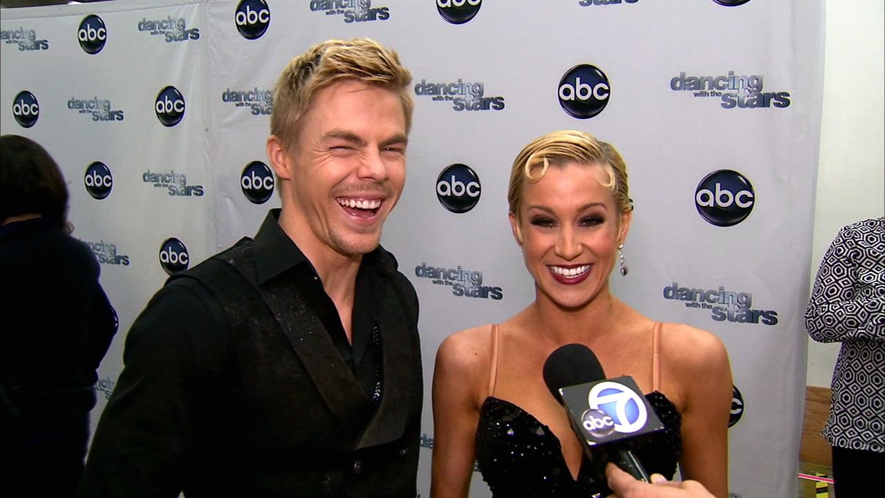 Dancing With The Stars contestant Kellie Pickler speaks after season 16s week 8 elimination on May 7, 2013.