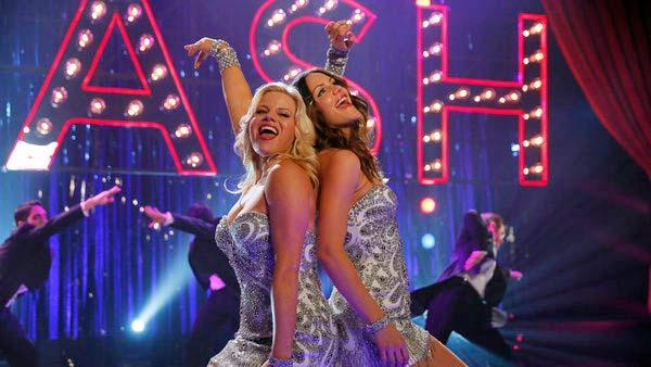 Katharine McPhee and Megan Hilty appear in a scene from a 2013 episode of Smash. - Provided courtesy of OTRC / Will Hart/NBC