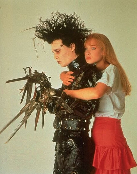 Johnny Depp and Winona Ryder appear in a still from the 1990 film 'Edward Scissorhands.'