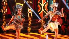 Aly Raisman and her partner Mark Ballas appear on week 9 of Dancing With The Stars on May 13, 2013. - Provided courtesy of ABC Photo / Adam Taylor