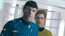 Zachary Quinto (Spock) and Chris Pine (Kirk) appear in a scene from the 2013 film Star Trek Into Darkness. - Provided courtesy of Zade Rosenthal / Paramount Pictures
