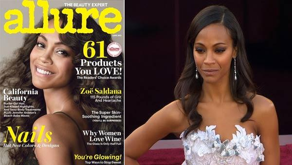 Zoe Saldana appears on the cover for the June 2013 issue of Allure magazine. - Provided courtesy of Allure Magazine