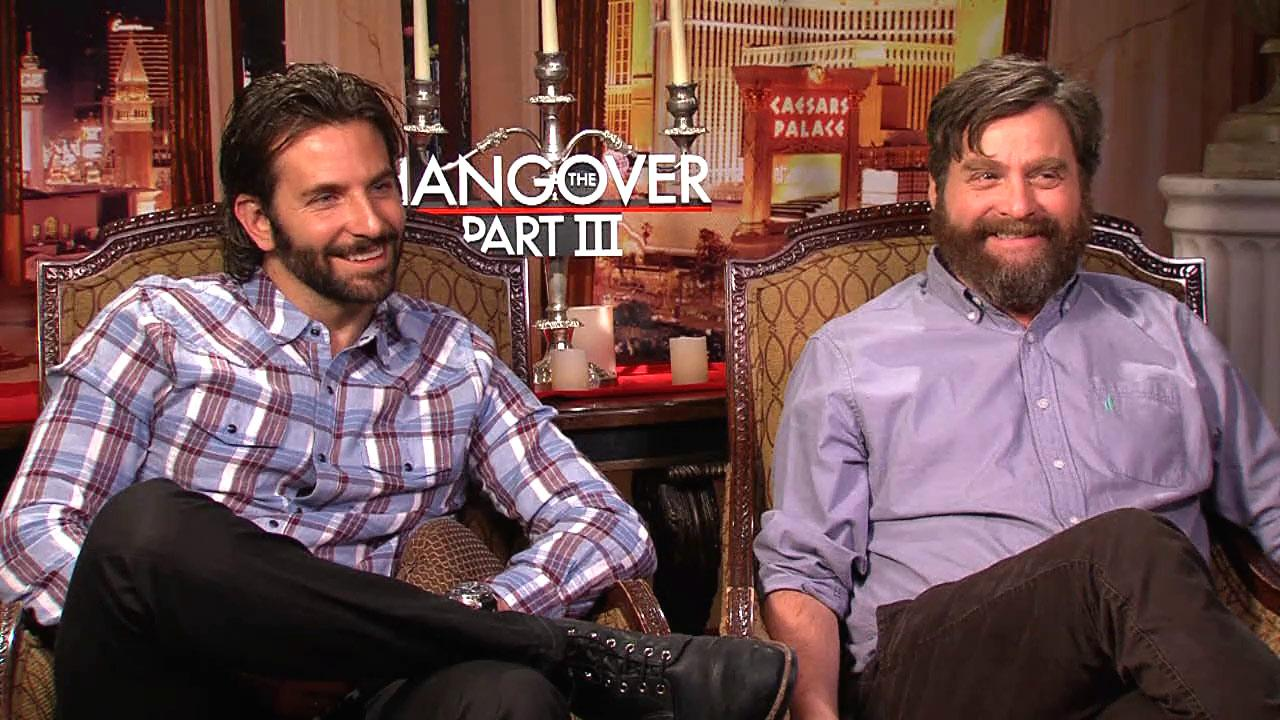 Bradley Cooper, Ed Helms and Zach Galifianakis discuss The Hangover: Part III to OTRC.com at a May 2013 press junket.