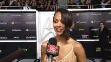 Zoe Saldana talks to OTRC.com about Star Trek Into Darkness at the films L.A. premiere on May 14, 2013. - Provided courtesy of OTRC