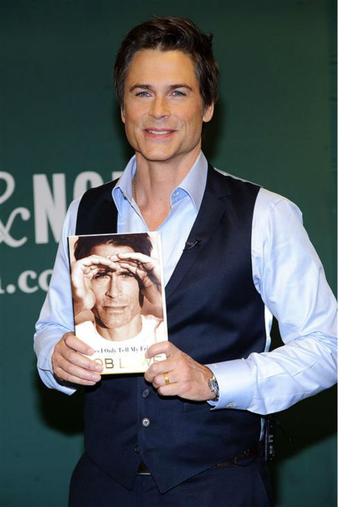 "<div class=""meta image-caption""><div class=""origin-logo origin-image ""><span></span></div><span class=""caption-text"">The time Rob Lowe was incredibly good-looking while holding a copy of his 2011 memoir, 'Stories I Only Tell My Friends' -- which also features a photo of himself appearing incredibly good-looking -- at a book signing event in New York on May 2, 2011. (Debra. L. Rothenberg / Startraksphoto.com)</span></div>"