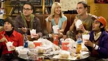 The cast appears in an undated photo from a scene from the CBS series The Big Bang Theory. - Provided courtesy of CBS