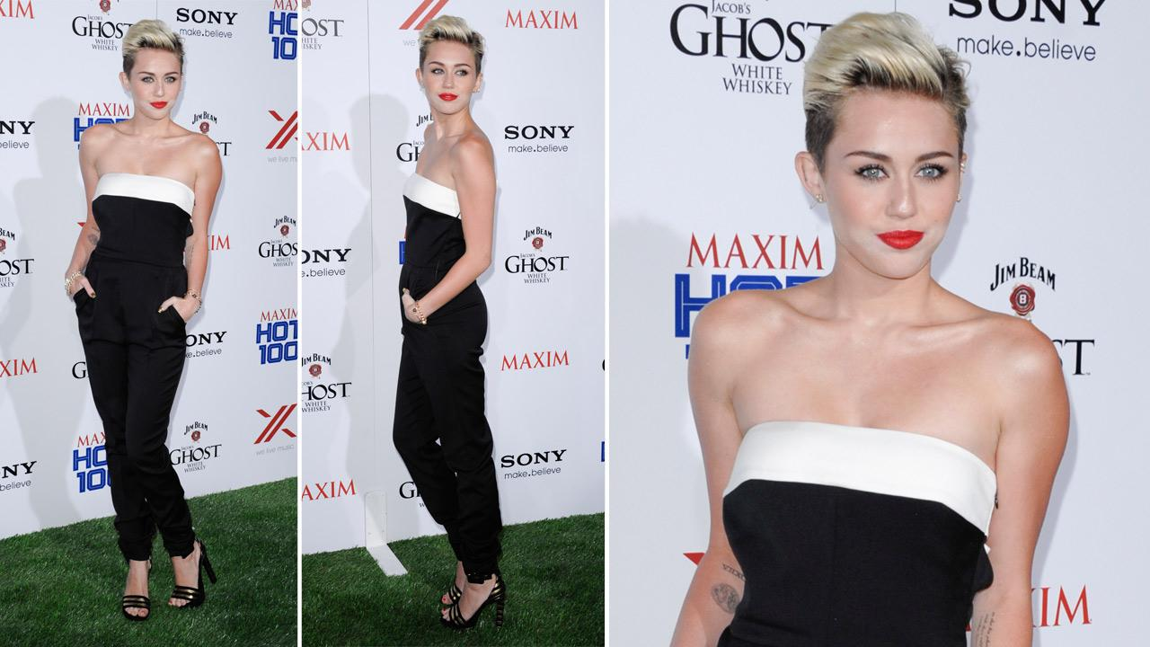 Singer and actress Miley Cyrus arrives at the 2013 Maxim Hot 100 celebration at Vanguard on Wednesday, May 15, 2013 in Los Angeles.