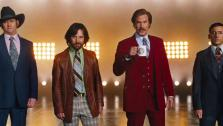 David Koechner, Paul Rudd, Will Ferrell and Steve Carell appear in a trailer for the 2013 movie Anchorman: The Legend Continues. - Provided courtesy of none / Paramount Pictures