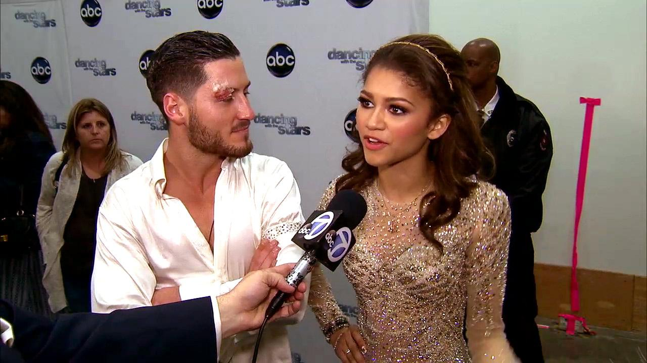 Dancing With The Stars contestants Zendaya and Val Chmerkovskiy talk to OTRC.com after season 16s tenth week of performances on May 20, 2013.