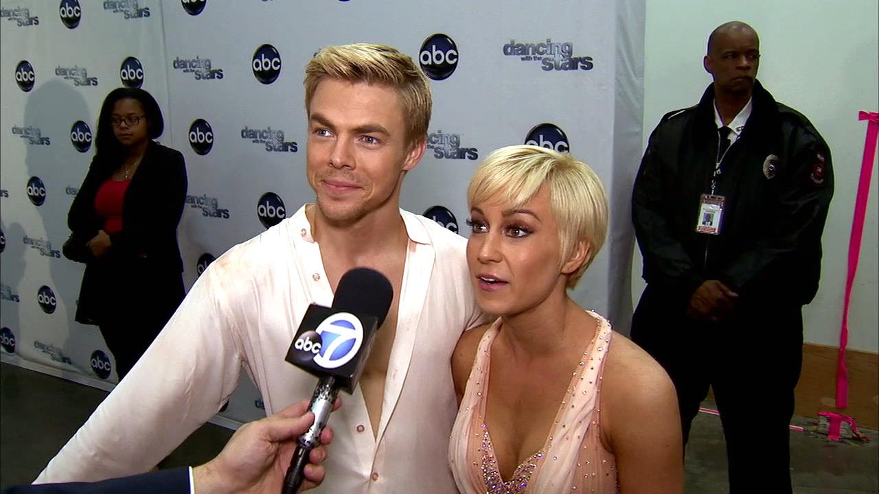 Dancing With The Stars contestants Kellie Pickler and Derek Hough talk to OTRC.com after season 16s tenth week of performances on May 20, 2013.