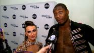Dancing With The Stars contestants Jacoby Jones and Karina Smirnoff talk to OTRC.com after season 16s tenth week of performances on May 20, 2013. - Provided courtesy of OTRC